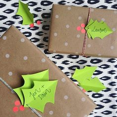 Dress up your gifts with some easy and festive holly berry gift tags!