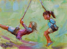 "Weeee by Lori Beringer Oil ~ 12"" x 9"""