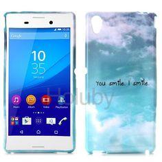 Ultrathin Soft Flexible TPU Back Case for Sony Xperia M4 Aqua (You Smile I Smile)