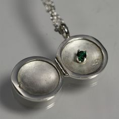 Custom Made Locket with Birthstone, Small (18)