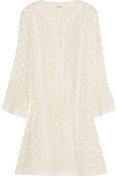 Talitha Ria embroidered silk-georgette mini dress | NET-A-PORTER
