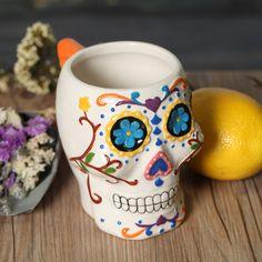 Funny Sugar Skull White Mug //Price: $49.99 & FREE Shipping //     #skull #skullinspiration #skullobsession #skulls