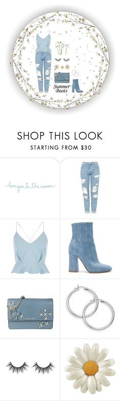 """Denim"" by bxxsic ❤ liked on Polyvore featuring Natural Life, Topshop, River Island, Gianvito Rossi, MICHAEL Michael Kors, Pier 1 Imports and summerbooties"