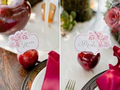 Rustic Snow White Wedding Inspiration - place settings