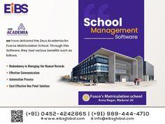 Our Success Story: School Management Software - Zeus Academia for Fuscos Matriculation School. Madurai, Success Story, Effective Communication, Software Development, Management, School, Schools