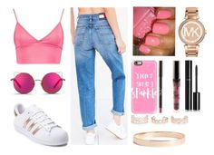 """""""Something Pink"""" by letiziiacuschieri-i ❤ liked on Polyvore featuring Tommy Hilfiger, Boohoo, adidas, New Look, Lana Jewelry, Michael Kors, Casetify, Chanel and Matthew Williamson"""
