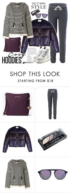 """In My Hood: Cozy Hoodies"" by ellie366 ❤ liked on Polyvore featuring Anja, MICHAEL Michael Kors, Monrow, T By Alexander Wang, See by Chloé, Superdry, Puma, stripes, sporty and sweatpants"