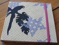 Diario con tela de ropa de Jazmín Chebar. Notebook, Tela, Diaries, Report Cards, Projects, Notebooks, Exercise Book, The Notebook