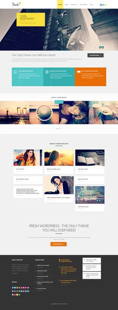 Fresh – Responsive Multi-Purpose WordPress Theme #web #design