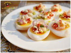 ยำไข่ต้มกุ้งสด - ครัวบ้านพิม