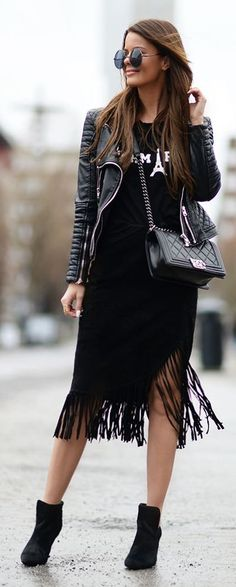All Black Everything Outfit Idea by Stylista