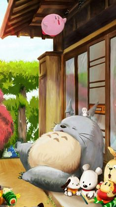 Dreamy Cute Lovely Totoro Window Outside iPhone 6 wallpaper Japanese Wallpaper Iphone, Wallpaper Iphone Disney, Kawaii Wallpaper, Studio Ghibli Art, Studio Ghibli Movies, Inspirational Wallpapers, Live Wallpapers, Arte Disney, Disney Art