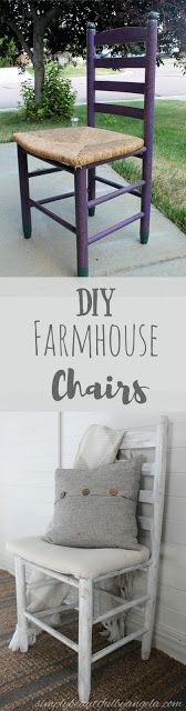 Simply Beautiful by Angela: Farmhouse Chairs Transformed from Curbside Trash