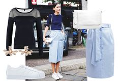 This is how you wear a pencil skirt with sneakers! | Fashion | Shopping | Streetstyle | Blogger outfit |