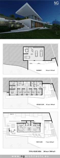 modern house plan Villa horizon by Ng architects www.ngarchitects.eu