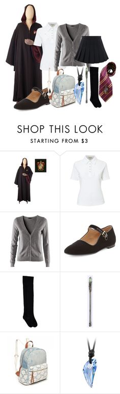 """""""Hogwarts Uniform - Ivey"""" by twilightphonix on Polyvore featuring Viyella, H&M, The Row and Red Camel"""