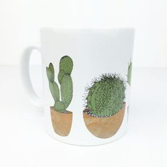 cactus mug by katebroughton on Etsy