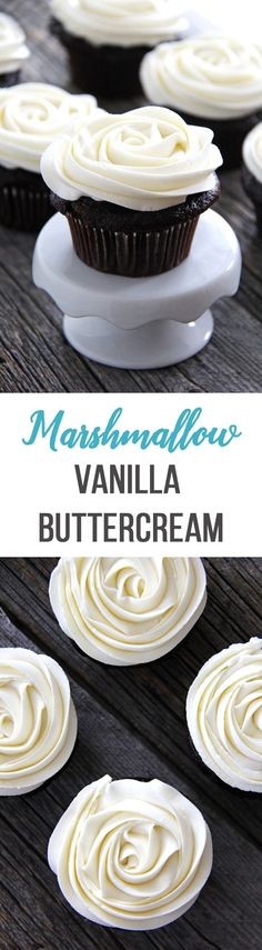 Marshmallow Vanilla Buttercream Frosting - A Pretty Life In The Suburbs