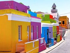 Bo-Kaap, Cape Town, South Africa - one of 10 Incredibly Colorful Cities You Wont Believe That Are Real Places Around The World, The Places Youll Go, Oh The Places You'll Go, Around The Worlds, Santorini, Beautiful World, Beautiful Places, Namibia, Colourful Buildings