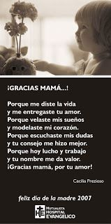 poemas para el dia de las madres | Dia de la madre: tarjetas para el dia de las madres Mother Poems, Mothers Day Poems, Happy Mother Day Quotes, Mother Quotes, Mom Quotes, Family Quotes, Happy Mothers Day, Life Quotes, Dad In Spanish