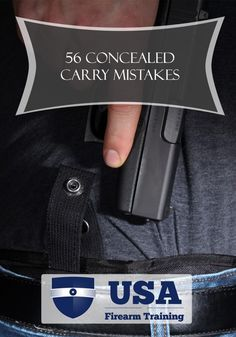 Concealed Carry Mistakes With Gun
