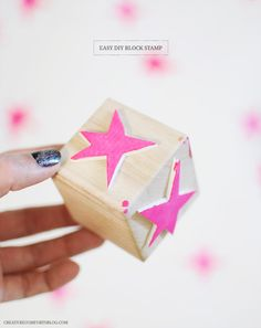 Easy DIY Block Stamps + A Watercolor Gift