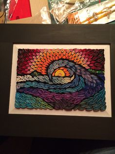 Quilled stained glass mosaic