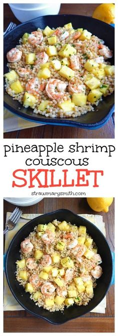 Pineapple Shrimp Couscous Skillet. Sweet pineapple, hearty shrimp, and ...