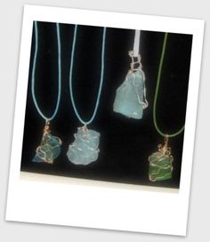 Wire wrapped manufactured glass