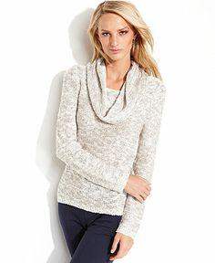 INC International Concepts Sequined Cowl-Neck Sweater - Clearance - Women - Macy's