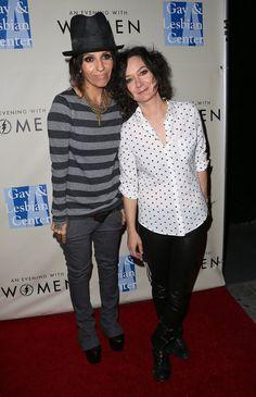 "Pin for Later: Same-Sex Celebrity Couples Say ""I Do"" Sara Gilbert and Linda Perry"