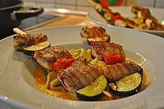 Fischspieße mit Paprikasoße (Rezept mit Bild) von meister99 | Chefkoch.de