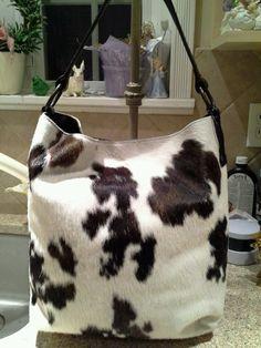 Maurizio Taiuti Genuine Leather Cowhide Calf Hair Bucket Purse Bag Large Mint | eBay