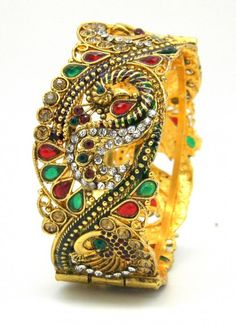 Impressive Metal Multi Colored Kangan.