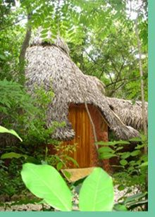 Mundo Milo Eco Lodge- Hotel Cabinas lodging in Mexican African style, CHEAP!