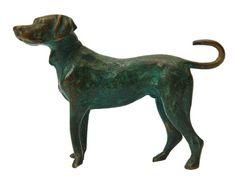 ANTIQUE VICTORIAN HUNTING DOG MINIATURE SCULPTURE