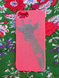 iPhone 5 cover  cross stitch giraffe