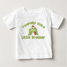 Toadally Cute Little Brother Frog Shirt has matching big and middle brother and sister design.