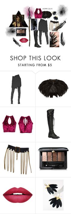 """""""Witch of the Wild"""" by a-o-f-1992 on Polyvore featuring Ann Demeulemeester, Phase Eight, Joie, Guerlain, Forever 21, Katerina Psoma, Dark, fantasy, Morrigan and wiitch"""