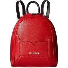 cc6f05c1e74b LOVE Moschino Detachable Pocket Backpack (Red/Black) Backpack Bags ($245) ❤  liked on Polyvore featuring bags, backpacks, strap backpack, vegan  backpack, ...