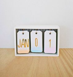 Create a watercolor calendar for your office desk.