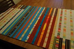 The Quilting Edge: Tutorial/QAYG # 5 / Joining Blocks with Narrow Strips
