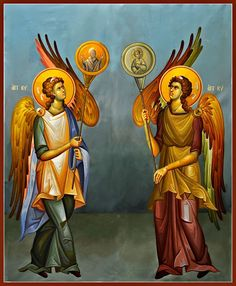 Angels with Hexapteriga South Side Religious Images, Religious Icons, Religious Art, Orthodox Prayers, Best Icons, Byzantine Icons, Orthodox Icons, Christian Art, Christianity