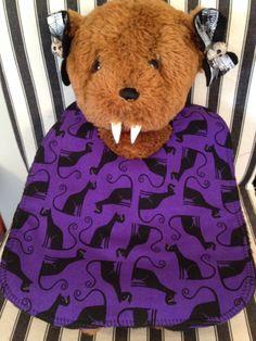 Purple Cat Baby Bib by babybatboutique on Etsy, $10.99