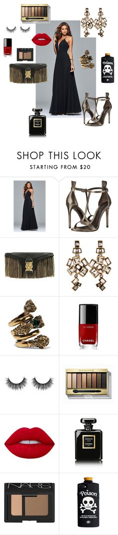 """Sweet Temptation"" by newyorkdressonline ❤ liked on Polyvore featuring Faviana, Rachel Zoe, Balmain, Loli Bijoux, Gucci, Chanel, Max Factor, Lime Crime and NARS Cosmetics"