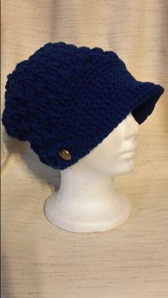 Blue brim hat