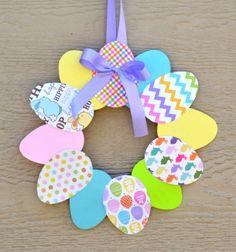 Egyszerű húsvéti tojás koszorú papírból  / Mindy -  kreatív ötletek és dekorációk minden napra