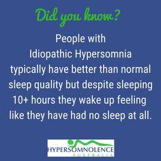 Hypersomnolence Australia advocates, educates and raises awareness of the neurological sleep/wake disorder, Idiopathic Hypersomnia. Idiopathic Hypersomnia, Sleep Quality, Ih, Wake Up, Disorders, Knowing You, Education, Feelings, Onderwijs