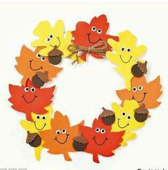 11 All craft kit pieces are pre-pac… Foam Smile Face Leaves Wreath Craft Kit. 11 All craft kit pieces are pre-packaged for individual use. Kits include instructions and extra pieces. Daycare Crafts, Fun Crafts, Science Crafts, Leaf Crafts, Wood Crafts, Preschool Art, Preschool Activities, Fall Arts And Crafts, Fall Paper Crafts