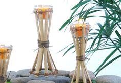 Tochas De Bambu Porta Vela